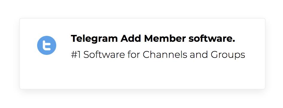 Telegram Add Member Software Download
